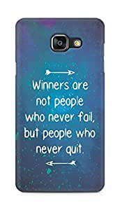 AMEZ but people who never quit Back Cover For Samsung Galaxy A5 (2016 EDITION)