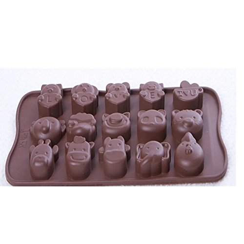 Evtech(Tm) 15 Cavity Elephant Style Silicone Gel Non Stick Cake Bread Mousse Ice Pudding Mold Chocolate Jelly Candy Baking Mould