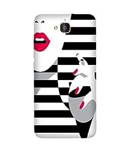 Black And White Stripes Huawei Honour 6 Plus Case