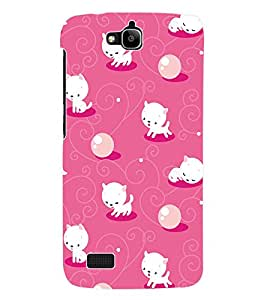 Fuson 3D Printed Cartoon Pattern Designer Back Case Cover for Huawei Honor Holly - D1094