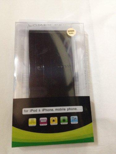 SUPPLY BANK 22000mah大容量モバイルバッテリー 2013年NEWバージョン!!【2.1A,1A 2出力ポート】マルチデバイス対応 (各種スマホ/iPhone5/iPad/wifiルータ/ゲーム機等対応)iPhone4 4S 3GS iPad PSPに対応 小型軽量の携帯バッテリー 通勤・出張・旅行・アウトドアーに最適! 【日本語取扱書付け】【6ヶ月の保証期間】 (ブラック)