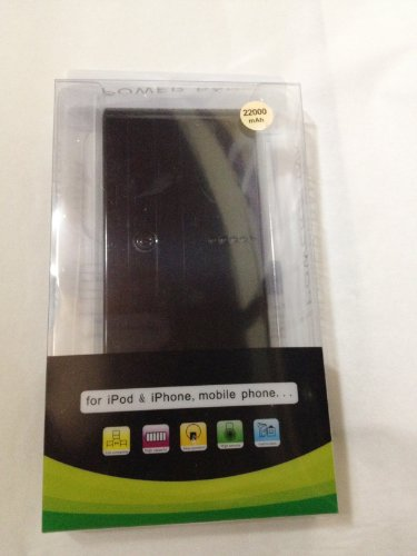 AMAMA STOREオリジナル商品!!SUPPLY BANK 22000mah大容量モバイルバッテリー 2013年NEWバージョン!!タッチペンをプレゼント2.1A,1A 2出力ポートマルチデバイス対応 (各種スマホ/iPhone5/iPad/wifiルータ/ゲーム機等対応)iPhone4 4S 3GS iPad PSPに対応 小型軽量の携帯バッテリー 通勤・出張・旅行・アウトドアーに最適! 日本語取扱書付け6ヶ月の保証期間 (ブラック)