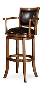 Amazon Com Poundex F4132 Swivel Bar Chair With Arms