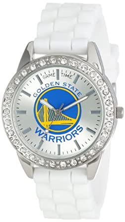 Game Time Ladies NBA-FRO-GOL Frost NBA Series Golden State Warriors 3-Hand Analog... by Game Time