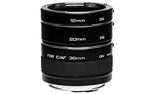 Kenko Auto Extension Tube Set DG 12mm, 20mm, and 36mm Tubes for Nikon AF Digital and Film Cameras - AEXRUBEDGN