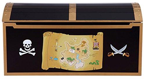Coffre aux trésors Pirate, 99.1 x 58.4 x 29.2 cm -PEGANE-