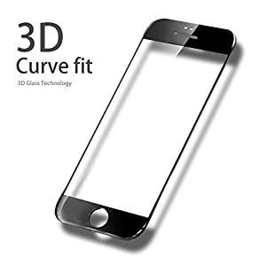 """iPhone 6/6S Edge to Edge Curved Screen Protector, Valuebuybuy 3D Tempered Glass Screen Protector for Apple iPhone 6/6S 4.7"""" inch 9H Glass 3D Curve [3D Touch Compatible]& [Anti-fringerprint] 2016 &HOT from Valuebuybuy"""