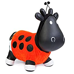 Trumpette Howdy Bouncy Rubber Cow Black Lady Bug Costume Bouncer Hopper Ride-On