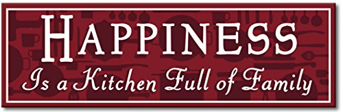 My Word 5.75 x 16-Inch Sign, Happiness