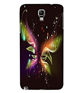 ColourCraft Digital Butterfly Design Back Case Cover for SAMSUNG GALAXY NOTE 3 NEO N7505