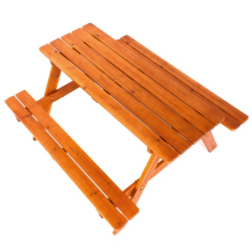 Ultranatura Picnic Table Set Luneburg made from wood - 54 x 51 x 29.5 inches (138 x 130 x 75 cm)