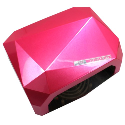 18W Nail Art Led Uv Gel Cure Curing Nail Lamp Nail Dryer Timer Gelish Polish Tool 110 220V (Rose)
