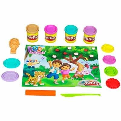 Create The Figures And Faces Of Your Favorite Dora The Explorer Friends - Play-doh Dora the Explorer 4 can 8 oz