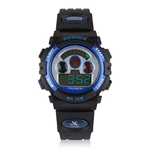 Children's sports watch 3 ATM water resistant digital display & backlight stopwatch-alarm clock features girls boys watches kids watches (004)