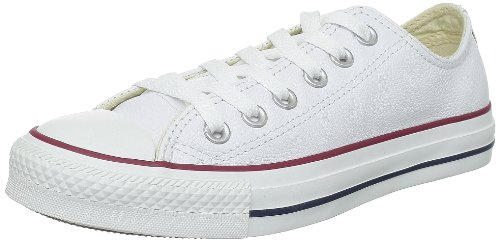 Converse Unisex Chuck Taylor Leather White Sneaker - 8 Men - 10 Women