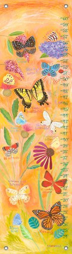 Oopsy Daisy Exotic Butterflies by Donna Ingemanson Growth Charts, 12 by 42-Inch