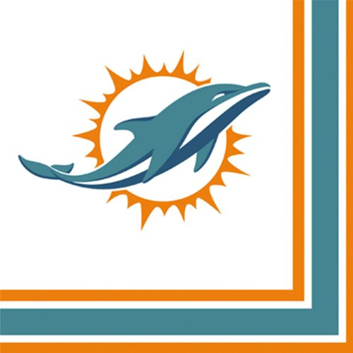 Miami Dolphins Luncheon Napkins - 1