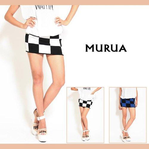 【MURUA(ムルーア)】チェスニットタイトスカート 2(M)サイズ オフホワイト(01)