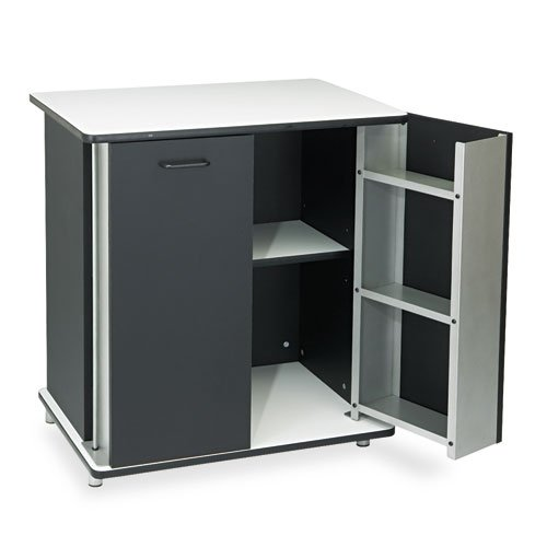 Vertiflextm - Refreshment Stand, 2-Shelf, 29-1/2W X 21D X 33-1/2H, Black/White - Sold As 1 Each - Spacious Top Can Support Microwave Or Coffee Maker.