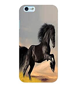 ColourCraft Lovely Horse Design Back Case Cover for APPLE IPHONE 6