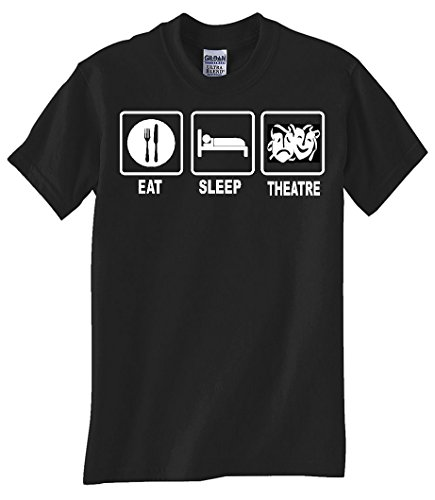 """EAT SLEEP THEATRE"" BLACK TEE SHIRT"