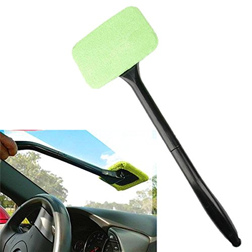 New Car Windshield Glass Cleaner Wiper Handle Wand Microfiber Cloth by Bcn