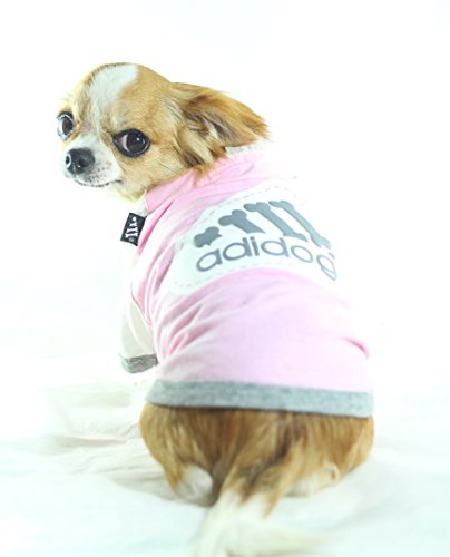 [Pink Adidog Dog T-shirt X-small] (R2d2 Costume Pattern)