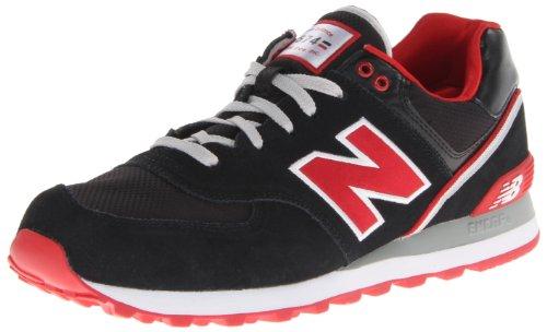 New Balance Men'S Ml574 Stadium Jacket Running Shoe,Black/Red,12 D Us