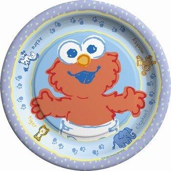 """Sesame Street Beginnings 7"""" Dessert Plates - 8 Count"""