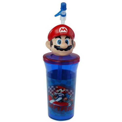 New Super Mario Bottle Tumbler Toys Perfect for Birthday Party Favor Goodie bags - WONDERS SHOP USA (Super Mario Anime compare prices)