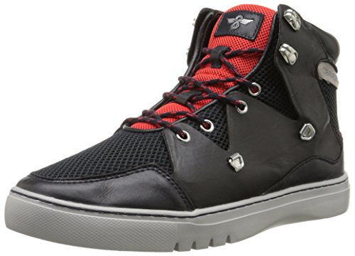 Creative Recreation Men's Spero Fashion Sneaker, Navy Black/Red Sport, 10.5 M US
