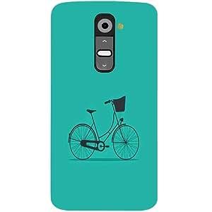 Casotec Lets Cycle Pattern Design 3D Hard Back Case Cover for LG G2