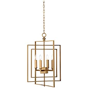Chelsea House Cube Small Gold Chandelier Amazon