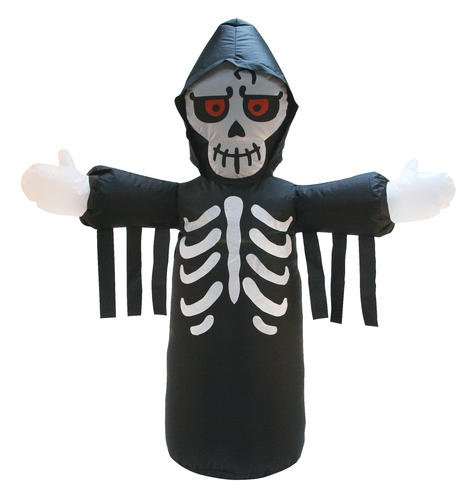Airblown Inflatable LED Reaper Skeleton 4 Ft Tall
