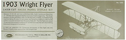 Guillow's 1903 Wright Brother Flyer Laser Cut Model Kit (Wright Brothers Model Airplane compare prices)