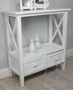nachttisch wei antik holz landhaus rosali tisch beistelltisch telefontisch da567. Black Bedroom Furniture Sets. Home Design Ideas