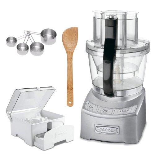 Cuisinart FP-12DC Elite Collection 12-cup Food Processor Die Cast + Storage Case for 12-Cup Food Processors + Accessory Kit