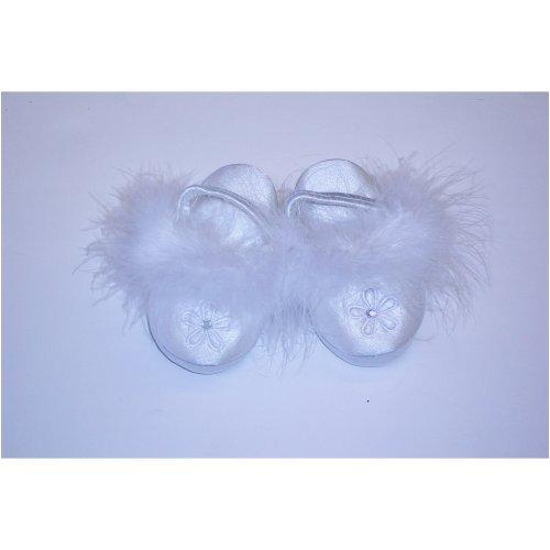 Cheap Tendertoes White Stretchy Fur Ballerina Slipper (B000I9PC56)