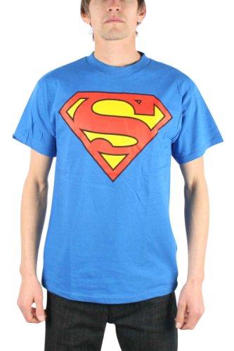 Classic Superman Shield Logo T Shirt, Small front-626572