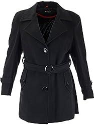 Panache Women's Slim Fit Coat (M003 _ X-Large, Black)