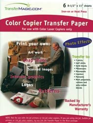 Transfer Magic Color Copier Transfer Paper 8 1/2