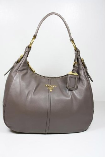 Prada Handbags Gray (Bambu) Leather BR4373