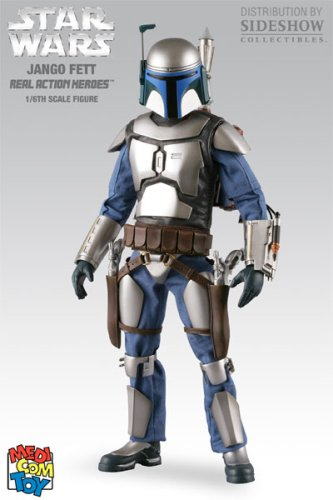 Buy Star Wars Real Action Heroes Jango Fett 1/6th Medicom Scale Figure by Sideshow Collectibles