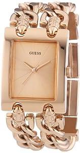 Guess Ladies Trend W0073L2 - Reloj analógico de cuarzo para mujer, correa de acero inoxidable color oro rosa por Guess