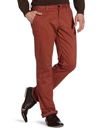 Selected Homme Men's Three Paris Mahogony Noos C Chino Trousers, Red (Mahogany), W30/L32