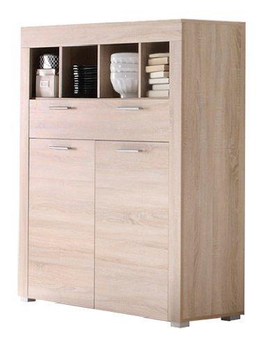 Credenza moderna Kayla, mobile soggiorno di design, in tre varianti colore