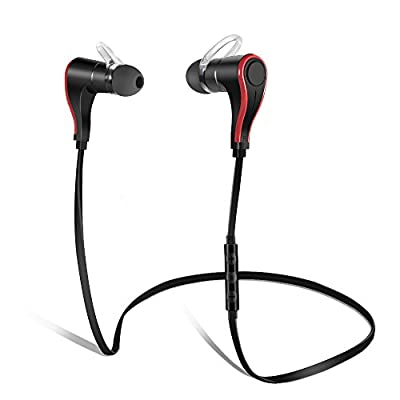 Bluetooth Headphones, Wireless Bluetooth V4.0 Headset Stereo Earphones Noise Cancelling Sweatproof Earbuds for Sports Music, Support 5 Languages Voice Command, perfect for iPhone 6s Plus Samsung Galaxy S6 S5 and Android Phones