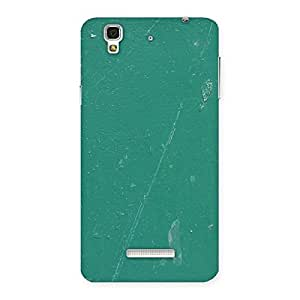 Delighted Green Paint Crack Print Back Case Cover for YU Yureka Plus