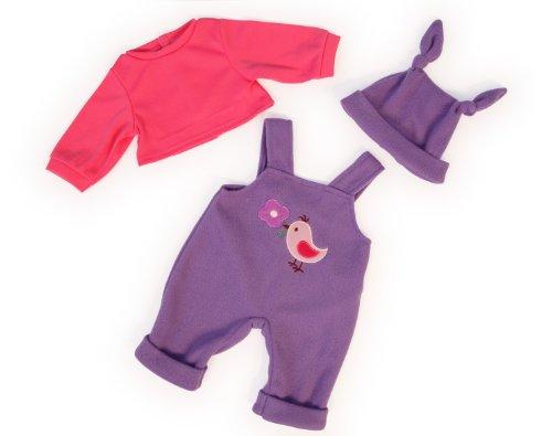 bayer-design-83856-vetement-pour-poupee-habit-poupon-salopette-pink-mauve-38-cm