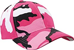 Pink Camouflage Low Profile Adjustable Cap